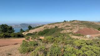 The intersection of the Marincello, Miwok, and Bobcat Trails. Amazing views (when Karl isn't around)