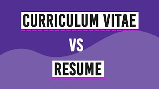 Difference between Curriculum Vitae and Resume