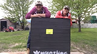 We Bought A HUGE Archery Target! Sighting In Our Compound Bows!