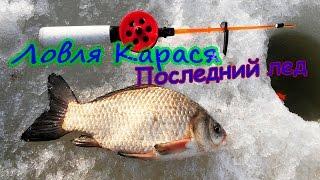 Первая рыбалка на карася весной со льда