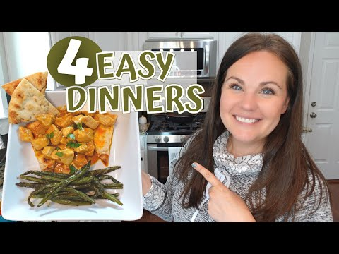4 EASY DINNERS | WEEKNIGHT DINNER RECIPES | WHAT'S FOR DINNER | AMBER AT HOME