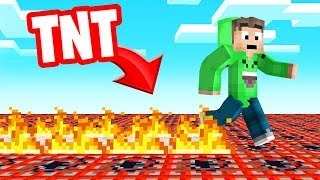 MINECRAFT But EVERY STEP = FIRE! (dangerous)