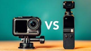 DJI OSMO ACTION vs DJI OSMO POCKET In-Depth Comparison!