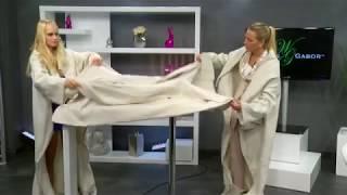 Fleece-Kuscheldecke mit Ärmeln, beige