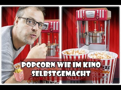 Popcorn wie im kino selbstgemacht 🍿| Klarstein Volcano Popcornmaschine | Mushroom oder Butterfly