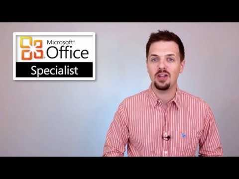 Microsoft Office Specialist Certification Online Courses - YouTube