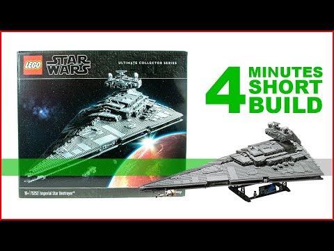 LEGO Imperial Star Destroyer 75252 SHORT BUILD Star Wars - 4 Minutes Fast Build
