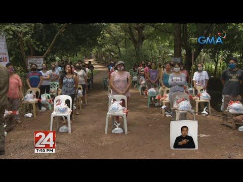 [GMA]  24 Oras: Mahigit 2,000 residente sa isang barangay sa Baras, Rizal, inabutan ng tulong ng GMAKF