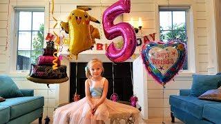День Рождения ! Алисе 5 лет ПОДАРКИ LOL / БАТУТЫ / Настоящий  ЕДИНОРОГ / Огромный Торт с Сюрпризом