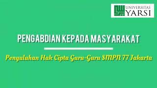 PENYULUHAN HAK CIPTA GURU-GURU SMPN 77 JAKARTA
