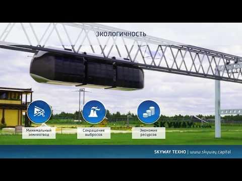 Городской транспорт по технологии SKYWAY , сравните с метро и монорельсом