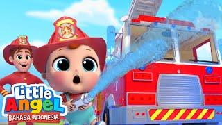 Ayo Jadi Pemadam Kebakaran!🚒Lagu Kendaraan   Little Angel Bahasa Indonesia