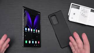 Samsung Galaxy Z Fold 2 5G Aramid Standing Cover Case Unboxing