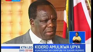 Kidero amulikwa upya kuhusiana na kampuni ya sukari ya Mumias