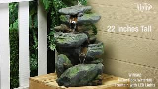Rocky Falls 3 Tier LED Fountain