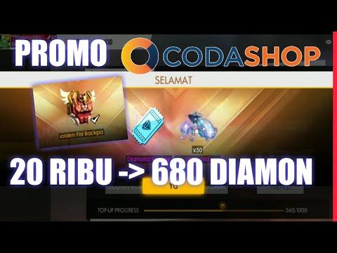 20 ribu dapet 680 diamon!!! Promo codashop