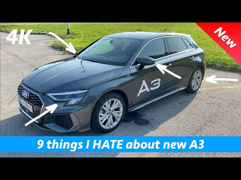 New Audi A3 - 9 things I dislike that should be better & standard for premium price YOU pay!