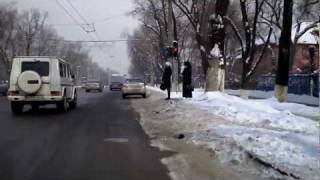 preview picture of video 'Winter Streets in Almaty Camcorder on the Bicycle'