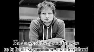 Ed Sheeran - Fire alarms    Traduzione
