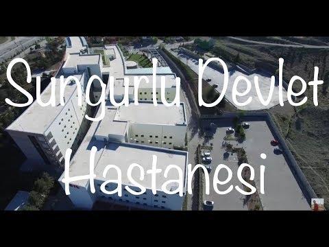 Havadan Sungurlu Devlet Hastanesi ve civarı 4K ile izleme keyfini yaşayın