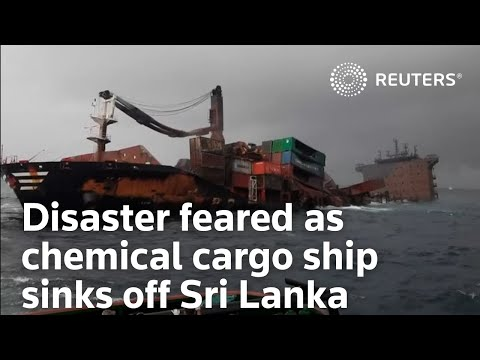 Disaster feared as chemical cargo ship sinks off Sri Lanka