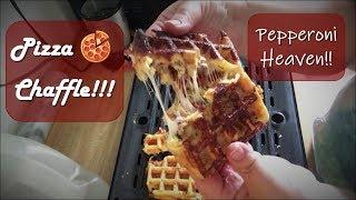 Pizza Chaffles!!!   Low Carb Keto Recipe   Chaffle Recipe
