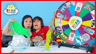 Mystery Wheel of Slime Challenge!!!!
