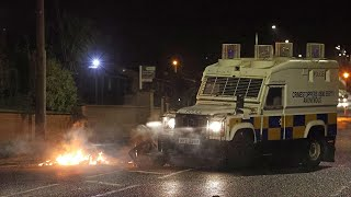 video: Watch: Petrol bombs and bricks hurled at police in Northern Ireland