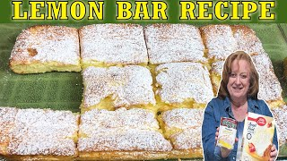 lemon bar recipe made with cake mix