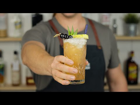 THREE DOTS AND A DASH – Classic Tiki Cocktail by Don the Beachcomber!