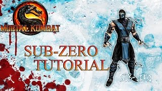 Mortal Kombat 9 - SUB-ZERO Tutorial Basics, Advanced, Set Ups, Combos, Resets