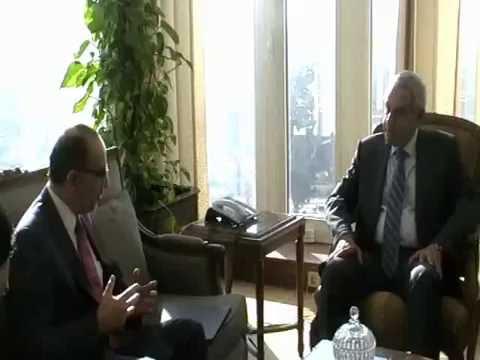 لقاء الوزير / طارق قابيل بسفير المكسيك بالقاهرة