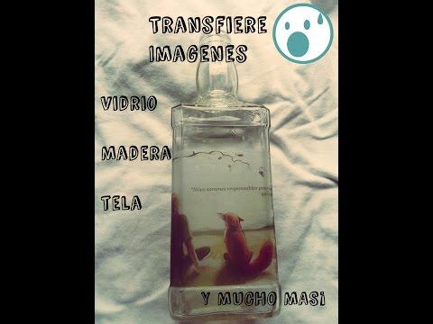 Transferencia de imágenes en vidrio madera tela y mucho mas