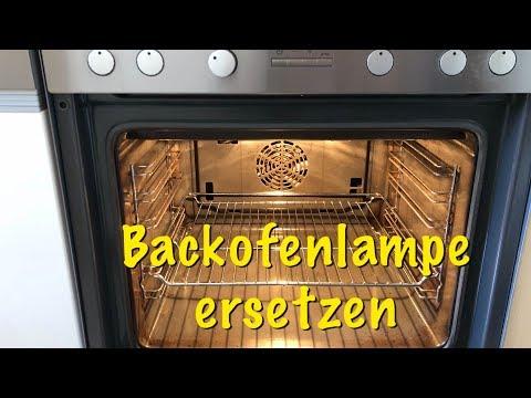 Backofenlampe wechseln - Glühbirne am Backofen ersetzen