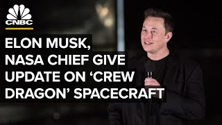 Elon Musk and NASA chief give an update on SpaceX