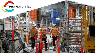 Town Hall Station works highlights - February 2021 to March 2021