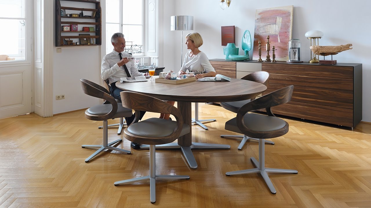 girado tafel eettafel met uittrekmechanisme team 7. Black Bedroom Furniture Sets. Home Design Ideas