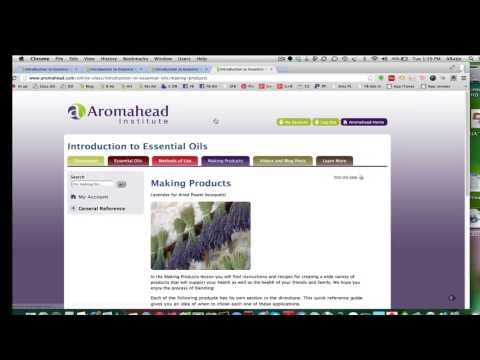 Introduction to Essential Oils: A Free Online Class from Aromahead ...