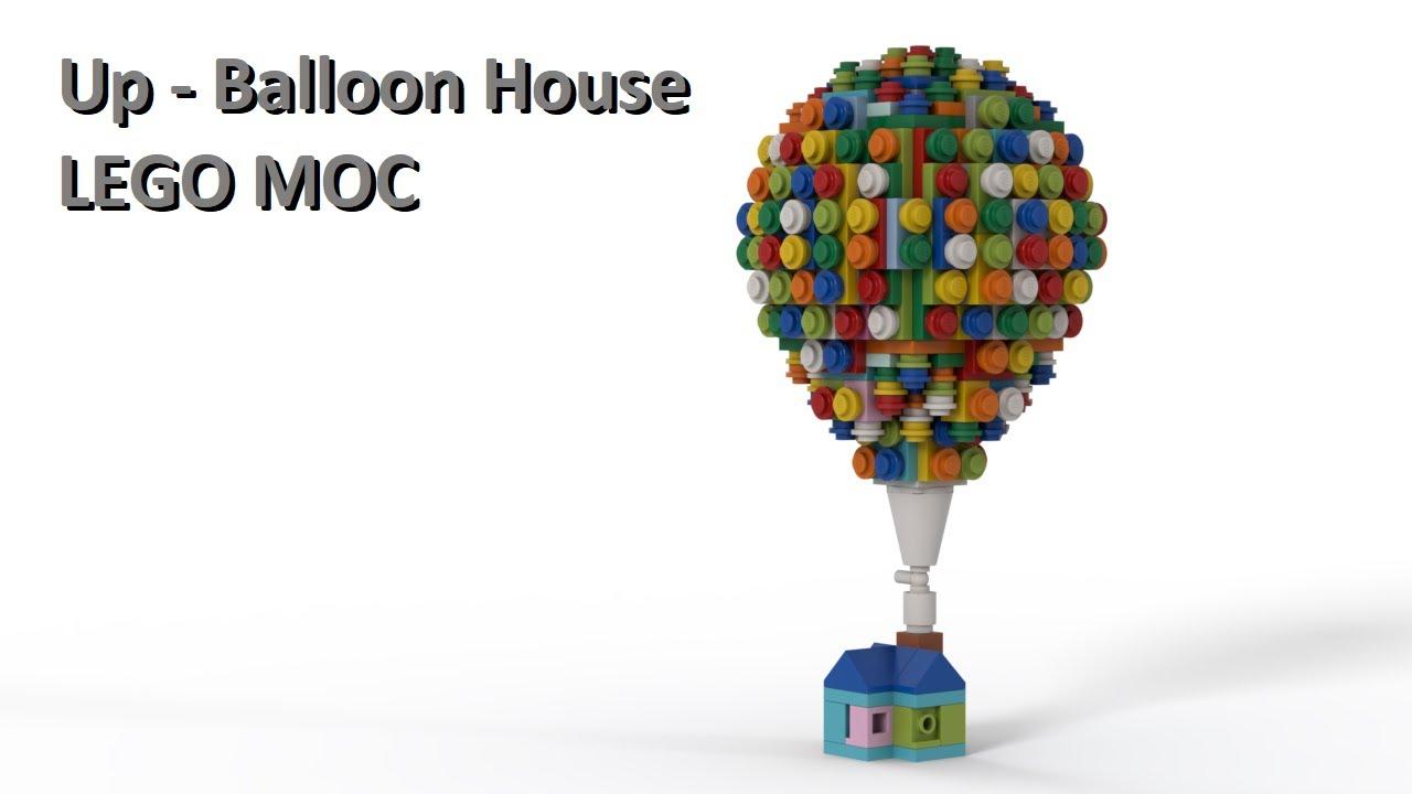 Up - Balloon House - LEGO MOC - Virtual Build