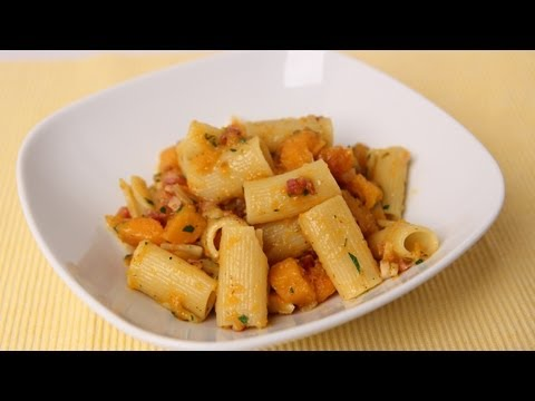 Rigatoni with Butternut Squash & Pancetta – Laura Vitale – Laura in the Kitchen Episode 478
