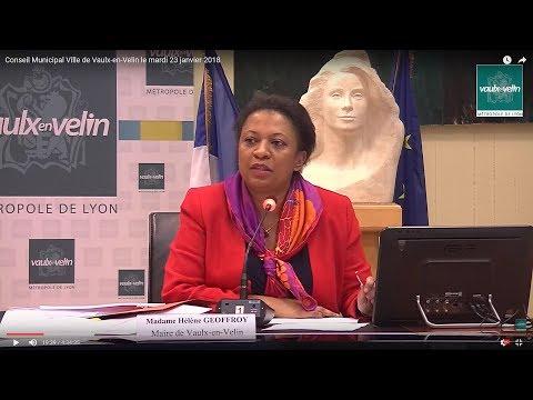 Conseil Municipal Ville de Vaulx-en-Velin le mardi 23 janvier 2018