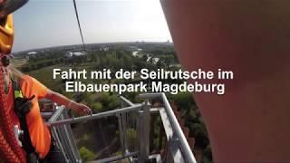 Seilrutsche im Elbauenpark