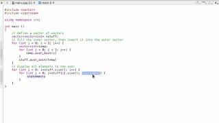 Vector of vectors (C++ programming tutorial)