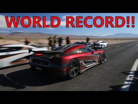 Insane Koenigsegg Agera RS Breaks TOP SPEED WORLD RECORD!!!