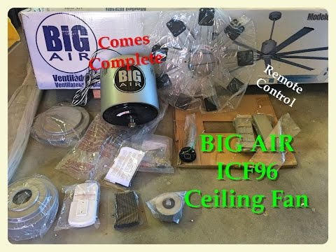 home depot BIG AIR ICF96 ceiling fan review