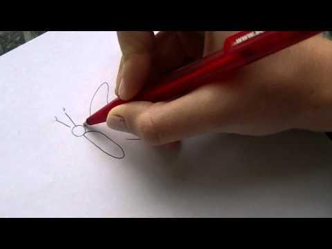Blumenwiese-Zeichnung