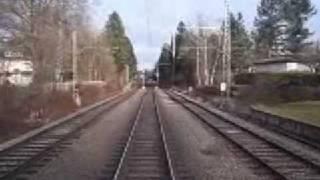 preview picture of video 'Führerstandsmitfahrt S-Bahn München (Pullach - Großhesselohe-Isartalbahnhof)'