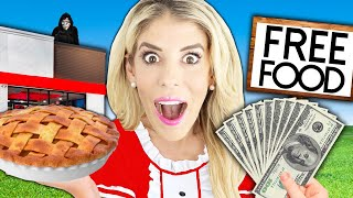 Buying A Restaurant and Giving Away Free Food For 24 Hours! (Emotional Surprise) Rebecca Zamolo