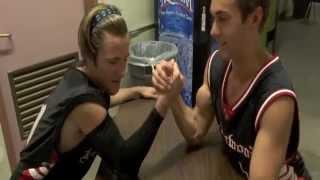 EXCLUSIVE: Luke Benward and Austin North Arm Wrestle!