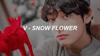 V (BTS) 'Snow Flower' (feat. Peakboy) Easy Lyrics